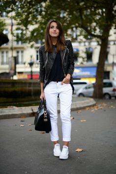 converse blancas con pantalones negro - Buscar con Google