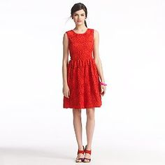 I'm seeing red...and a cute dress...all in one...
