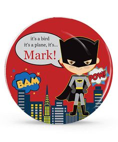 Another great find on #zulily! Fair Batman Personalized Plate by Avery & Ethan #zulilyfinds