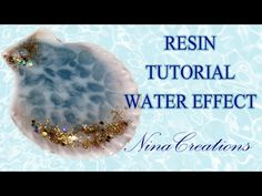 TUTORIAL SPUMA DI MARE IN RESINA - NinaCreations - YouTube Uv Resin, Acrylic Resin, Resin Art, Resin Crafts, Fun Crafts, Paper Crafts, Resin Jewelry, Jewelry Crafts, Jewellery