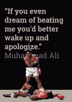 Muhammad Ali #Quote. Tutorial on Pixel Art in Illustrator