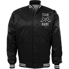 Personalized Ice Hockey Coach Team Jacket | Available in other styles & colors.