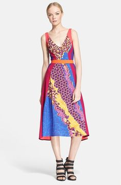 PETER PILOTTO Print Fit & Flare Midi Dress available at #Nordstrom