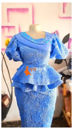 Nigerian Lace Styles Dress, African Lace Styles, African Dresses For Kids, African Lace Dresses, Latest African Fashion Dresses, Women's Fashion Dresses, African Print Fashion, Nigerian Ankara Styles, Aso Ebi Lace Styles