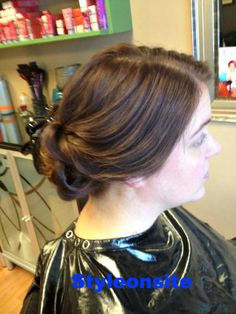 low curled bun, wedding hair, bridesmaid, bride, prom, special event