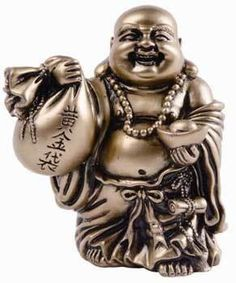 """Buddha Prosperity 3 3/4"""" - A small Buddha statue adorned with and carrying symbols of wealth and prosperity. Perfect for any altar or shrine space dedicated to spiritual or material prosperity."""