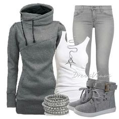 So Comfy&Cute with a pair of wedge sneakers!!