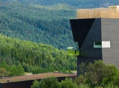 Knut Hamsun Center in Hamarøy, Norway by architect Steven Holl. Photo by Iwan Baan Steven Holl, Miss Moss, New Architecture, Design Museum, Reading Room, Architectural Digest, Stairway, Cool Pictures, House Design
