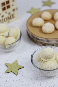 Rezept: Schneebällchen   Selbstgemachte Raffaello   Milchmädchen Pralinen