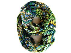 Wavy Striped Multicolored Infinity Scarf Fun by PoePoePurses, $30.00
