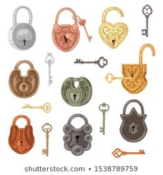 Padlock Tattoo, Lock Key Tattoos, Pattern Design Drawing, Key Lock, Safety And Security, Vintage Keys, Designs To Draw, How To Draw Hands, Locks