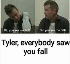 i saw you fall