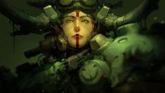 Athena  by *Reza-ilyasa # cyberpunk, robot girl, cyborg, futuristic, android, sci-fi, science fiction, cyber girl, digital art