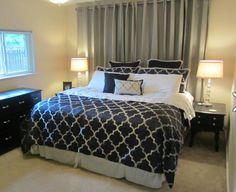 1000 images about off center window behind bed on for Bedroom ideas window over bed