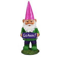 Exhart Gnomes with Attitude - Go Away Statue