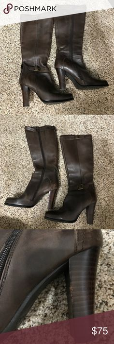 Aldo Boots Aldo Boots. Mid calf. Gently used. One scuff on high as pictured. Make offer. Aldo Shoes Heeled Boots