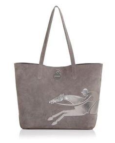 LONGCHAMP Shop It Medium Suede Tote. #longchamp #bags #hand bags #suede #tote #metallic #