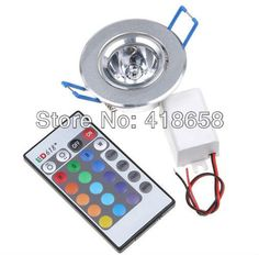Aliexpress.com : Buy 85~265V 3W 1 LED RGB led light lamp Downlight Recessed downLamp Bulb led Spotlight w/ Remote Control ceiling lamp free shipping from Reliable downlight led suppliers on Shenzhen sea star lighting technology co.,LTD. $91.75