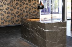 Pietra Grey reception desk - RCVA Noosa Resort & Spa - by Qld Marble & Granite