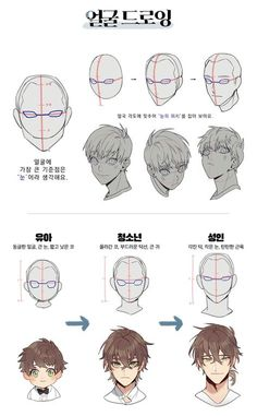 Super Drawing Faces Tutorial Style 56 Ideas - Drawing Tips - Drawing Heads, Body Drawing, Drawing Base, Anatomy Drawing, Manga Drawing, Drawing Men Face, Face Drawings, Pencil Drawings, Digital Art Tutorial