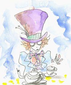 Tim Burton's sketch of the Mad Hatter