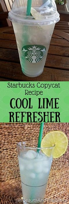 Cool Lime Refresher copycat recipe #Starbuckscopycat #MeatlessMonday #Coollimerefresher