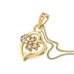 Artemisia Diamond Studded Gold Pendant