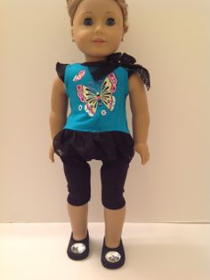 Trendy Dolls - Butterfly Outfit for 18 inch American Girl Dolls, $13.00 (http://www.mytrendydoll.com/18-inch-doll-clothes/butterfly-outfit-for-18-inch-american-girl-dolls/)