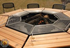 7 Staggering Cool Tips: Fire Pit Gazebo simple fire pit firewood storage.Fire Pit Wall Fireplaces fire pit lighting back yard. Fire Pit And Grill Combo, Fire Pit Bbq, Fire Pit Backyard, Outdoor Grill, Outdoor Fire, Outdoor Tools, Outdoor Spaces, Bbq Table, Picnic Table