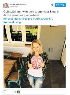#LornaJaneSA drivers keeping stylish #ActiveLiving #MoveNourishBelieve Active Wear, Believe, Stylish, How To Wear, Fashion, Moda, Fasion, Trendy Fashion, La Mode