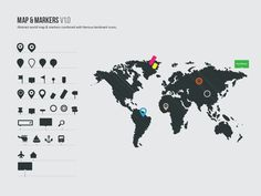 Political world vector map graphics creative design and fonts gumiabroncs Choice Image