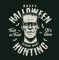 Monochrome Halloween Frankenstein vector design created for 21 Halloween apparel designs. Super quality, editable texts. Download with 30% discount on www.dgimstudio.com. #halloween #halloween2020 #halloweencostume #halloweendesign #tshirtdesign #appareldesign #Frankenstein