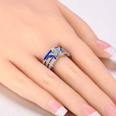 (Processing Time: 30 Working Days)Cool White Star-shaped CZ Inlaid 925 Sterling Silver Women And Men's Ring