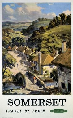 British Railways Western Region travel poster Artwork by L A Wilcox This is truly an outstanding quality poster It is printed on Fuji crystal archive Posters Uk, Train Posters, Retro Poster, Railway Posters, Vintage Travel Posters, England Travel Poster, Europe Train Travel, British Travel, Countryside