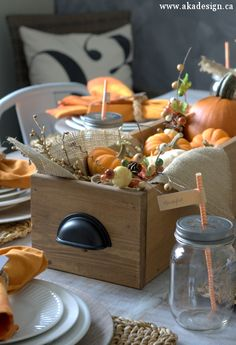 Fall Thanksgiving Table #holidayentertaining #thanksgiving #givingthanks…