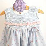 batista y crochet Crochet Girls, Crochet Baby Clothes, Love Crochet, Beautiful Crochet, Crochet For Kids, Knit Crochet, Crochet Fabric, Baby Sweaters, Little Girl Dresses