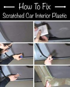 How To Fix Scratched Car Interior Plastic - Homestead & Survival Car Cleaning Hacks, Car Hacks, Car Interior Cleaning, Cleaning Products, Car Products, Sonata 2012, Console Centrale, Vw Cabrio, Car Care Tips