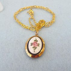 1940s Guilloche' Classic Design Locket, Hold Two Pictures! from antiquetreasurechest on Ruby Lane