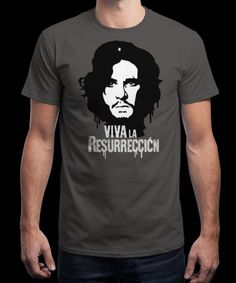 """Viva La Resurreccion"" is today's £8/€10/$12 tee for 24 hours only on www.Qwertee.com Pin this for a chance to win a FREE TEE this weekend. Follow us on pinterest.com/qwertee for a second! Thanks:)"