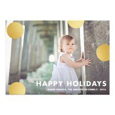 POLKA DOT GOLD | HOLIDAY PHOTO CARD