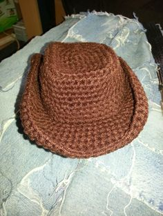 Return to the Simple- Live, Laugh, and Love: Crochet cowboy hat also chaps and boots on this sit Crochet Toddler, Crochet For Boys, Newborn Crochet, Love Crochet, Diy Crochet, Crochet Crafts, Crochet Hooks, Single Crochet, Crochet Disney