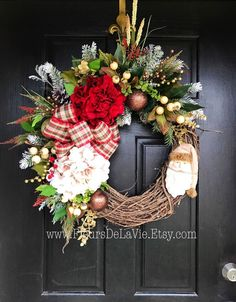 A personal favorite from my Etsy shop https://www.etsy.com/listing/253484245/christmas-wreath-for-front-door