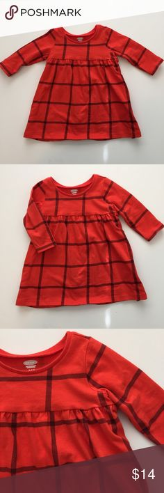 Plaid Baby Dress Long sleeve red plaid baby dress! ❌ NO TRADES, NO PAYPAL, NO HOLDS ❌ Old Navy Dresses Casual