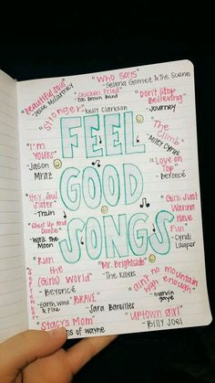 Ultimate List of Bullet Journal Ideas: 101 Inspiring Concepts to Try Today (Part - Simple Life of a Lady Thirsting for more bullet journal ideas? Here's the second installment of Ultimate List of Bullet Journal Ideas! Get your bullet journals ready! Mood Songs, Music Mood, Upbeat Songs, Good Vibe Songs, Music Life, Pop Music, Live Music, Song Suggestions, Bullet Journal Inspo