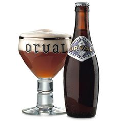 Beer Orval Trappist Ale, Brasserie d'Orval, Belgium.