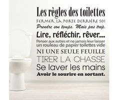 Discover recipes, home ideas, style inspiration and other ideas to try. Bathroom Wallpaper, Home Wallpaper, Deco Originale, French Quotes, Design Seeds, Printable Quotes, Kindergarten Activities, Organizer, Wall Stickers