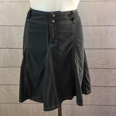Athleta whatever skirt skort gray petite Athleta whatever skort in asphalt gray. Built in shorts underneath Athleta Skirts A-Line or Full