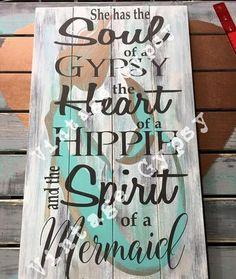 Mermaid Soul Wooden Sign