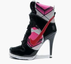 8966ef52326352 sports shoes could also be fashionable-Pink Black Nike Shoes Wmns Dunk High  Heels White