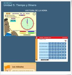 "Unidad 5 de Matemáticas de 3º de Primaria: ""Tiempo y dinero"" Amanda, Interactive Activities, Unity, Money, United States, Reading"